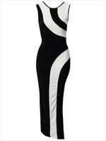 2014  Fashion Women Elegant Vintage Geometry sleeveless bandage dress summer Bodycon Party Evening Slim pencil Dress