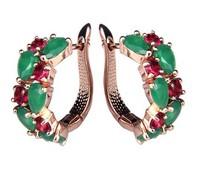 Newest top-rated Mona Lisa stud earring luxury zircon gold-plated stud earring bridal zircon Earring Elegant Stud Earrings
