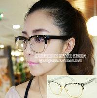 Discount Accessories wholesale Mixed plain mirror five-pointed star rivet black glasses 9197  10pcs/lot