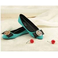 Lace bow flat single shoes women's shoes