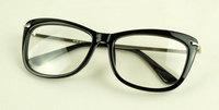 Discount Accessories wholesale Plain mirror unique metal alloy mirror black glasses 1218  10pcs/lot