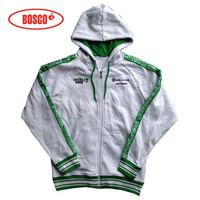 Free shipping Russia sochi2014 Men zipper hooded stripe jersey green