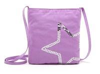 H1652 Fashion Purple Sequins Star Zipper mini Messenger Bag Cross Body Free shipping wholesale drop shipping J13