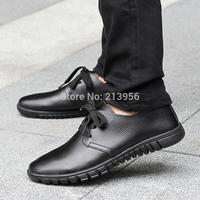 Spring fashion single shoes male genuine leather casual shoes breathable shoes fashion leather popular male shoes skateboarding