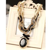 New arrival vintage gem Women necklace elegant all-match