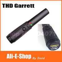 High Sensitivity Garrett THD Hand Held Metal Detector Full Degree Scanners & LED Flashlight For Security Detectors Free Shipping