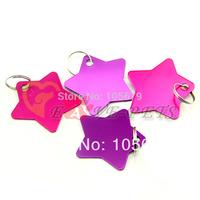 V1079 Fashion Design Aluminum Material Star Shape Cat Pet Dog Tag Drop Shipping Factory Produce Wholesale Price 1 pc