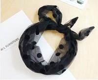 Black dot silk hair band hair bands