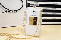 fashion Luxury Chain Brand TPU Case Fragrance Bottle Handbag Case For Samsung galaxy Note3 Note 2 S4 N7100 i9500  N9000