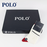 Polo socks 100% cotton candy color thin knee-high summer moisture wicking boxed socks male