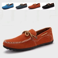 New brand Men flat Casual Shoes Fashion british style original men's genuine leather casual shoes loafers Eur size39-44