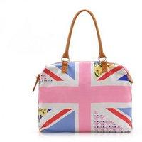 H1064  UNION JACK   Zipper Tote Bag Travel Bag hand bag FREE SHIPPING DROP SHIPPING WHOLESALE Vintage