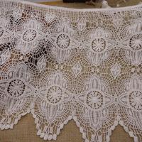 1kg 30cm Swiss Cotton Lace Water Soluble Venice Lace Trim French Crochet Lace Fabric Garment Accessories Applique Guipure AC0171