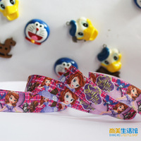 16mm sophia princess pattern elastic bag webbing terylene gift packaging diy ribbon divisa tousheng