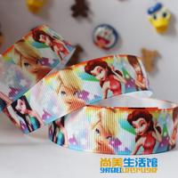 22mm princess pattern printing belt rib knitting belt grosgrain ribbon hair accessory tousheng ribbon