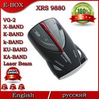 High Quality Cobra XRS 9880 Car Radar Detector Full Band High Performance Russian & English Language SG post Free shipping