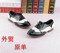 new 2014 Fashion vintage brockden women's shoes carved shoes flat shoes lacing plus size shoes