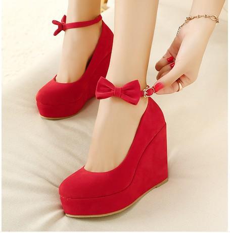 احذية روعة باللون الاحمر من بريق الرعد Low-Price-2014-New-S