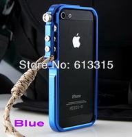 New Military Trigger Aluminum Metal Bumper Case Cover for iPhone 5 5S +Strap + gift
