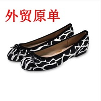 new 2014  spring fashion flat heel single shoes leopard print bow round toe flat casual female shoes