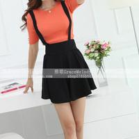 2014 xiaxin braces skirt high waist short skirt puff skirt bust skirt
