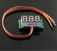 Free shipping 1PCS DC 0-100V Red LED digital voltmeter car motor motorcycle battery monitor dc volt voltage panel meter #00006