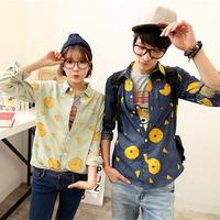 Pineapple slice lovers denim shirt 201-c04p65