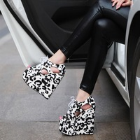 Туфли на высоком каблуке fashion pointed toe wedges women Strange Style pumps peacock allotypy 11cm cutout with ultra high heels shoes