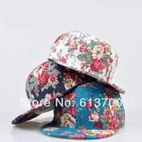 Free Shipping High Quality  Women and men Hip Hop Strapback Cap Blank Snapback Hats Baseball Caps Lady Summer Flower Snapbacks