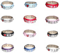 2014   fashion  EXO 12  people  CHEN, LAY,XIUMIN,DO,KRIS,SUHO ,SEHUN,TAO,KAI, LUHAN,CHANYEOL BAEKHYUN  pu  leather   bracelet