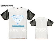 golfinho 2014 t- camisa fornecer co diamante homens hip hop vestuário casual ao ar livre esporte curto- manga camisas de impressão moda roupas(China (Mainland))