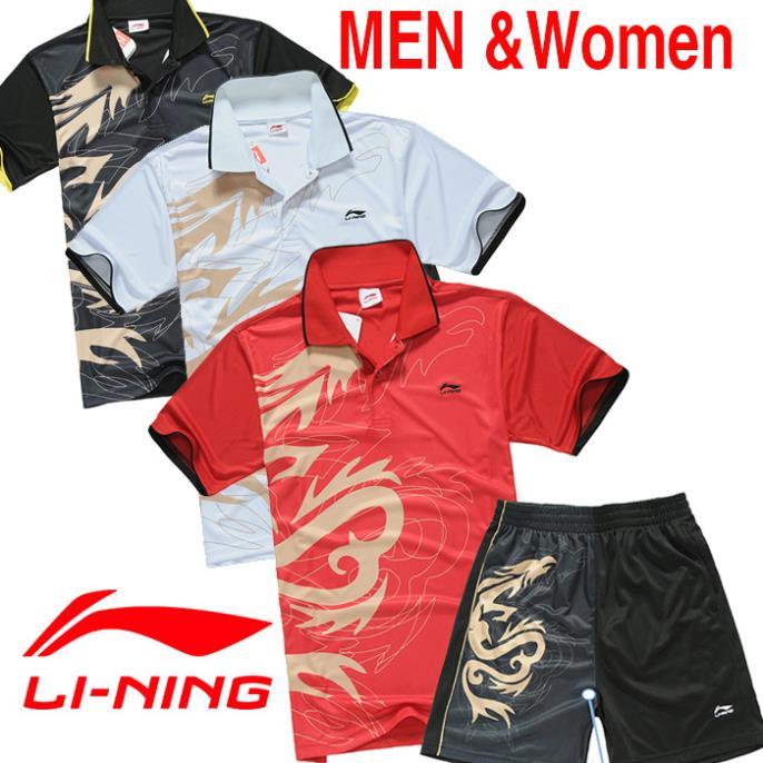 Free shipping NEW LI-NING Dragon Women's Shirt / Men's Shirt / Table Tennis /Tennis Jersey / Badminton Shirt / Relax T-Shirt(China (Mainland))