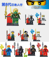 2014 Hot Sale Ninja Mini Action Figures 10pcs set Classical Toys Building Block Educational Toy Birthday Gift Free Shipping