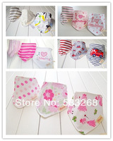 Free shipping 15pcs/lot baby bibs designs mixed infant saliva towel 100% cotton Original brand with free shipping
