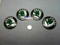 Skoda rim refires rim discontinuing decoration stickers car rim emblem metal car stickers