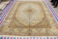 Luxus Oriental Carpet Handmade Carpet Silk Persian Rug And Carpet For Living Room Modern Rug For Children Bedroom 9x12 On Sale!