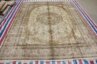 Oriental 100% Handmade Carpet Flower Design Persian Silk Rug And Carpet For Living Room Children Bedroom 9x12 On Sale!