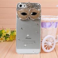 New Arrival Diamond Mask Rhinestone case for iPhone 4 4s case for iPhone 5 5s case Mobile Border Protection Phone bag
