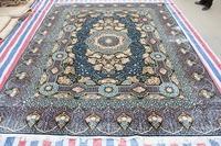 Luxus Blue Rug Handmade Carpet Silk Persian Rug And Carpet For Living Room Modern Carpet For Children Bedroom 9x12 ft On Sale!