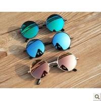 Multicolour 2013 membrane circle glasses round box vintage prince mirror reflective sunglasses trend of the paragraph