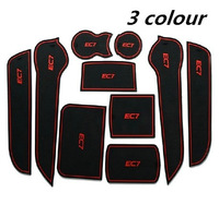 Free shipping/Car Door Gate Slot Pad Door Mat Gasket Cup Anti-slip Mats for Geely Emgrand  EC7/one set 10pcs/Wholesale+Retail