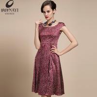 2014 spring and summer fashion cap sleeve slim medium-long silk one-piece dress lyqb-221