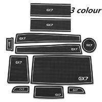 Free shipping/Car Door Gate Slot Pad Door Mat Gasket Cup Anti-slip Mats for Geely GX7/one set 11pcs/Wholesale+Retail