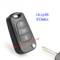 Free shipping 10pcs/lot new 3 buttons IX35 flip remote key with 46 chip and 433Mhz