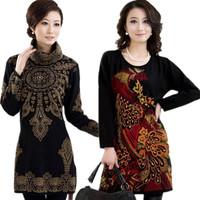 2013 hot-selling sweater female turtleneck plus size plus size middle-age women medium-long sweater cashmere sweater