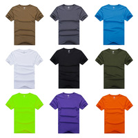 E0074 Free Shipping Brand Authentic Sports Apparel Men Running Short sleeve T Shirts Fitness jogging TOPS  Coolmax Quick Dry UV