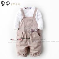 2014 fashion bib pants children's clothing trousers capris baby pants
