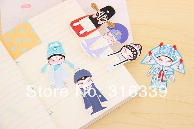 7Pcs Mini Chinese Peking Opera Mask Bookmark Classical Reading Accessories BDAU