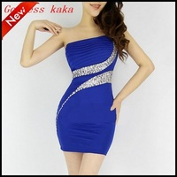 New arrival and fashion 2014 women summer dress  prom mini dress the bridesmaid dress Free shipping A008