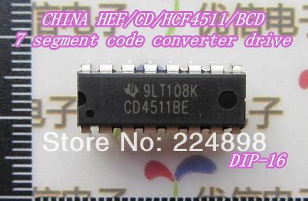 CHINA HEF/CD/HCF4511/BCD 7 segment code converter drive DIP-16(China (Mainland))